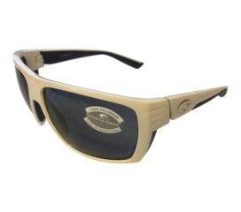 Costa Del Mar Hamlin Sunglasses - White w/ Blue Frame - Polarized Gray 580P Lens