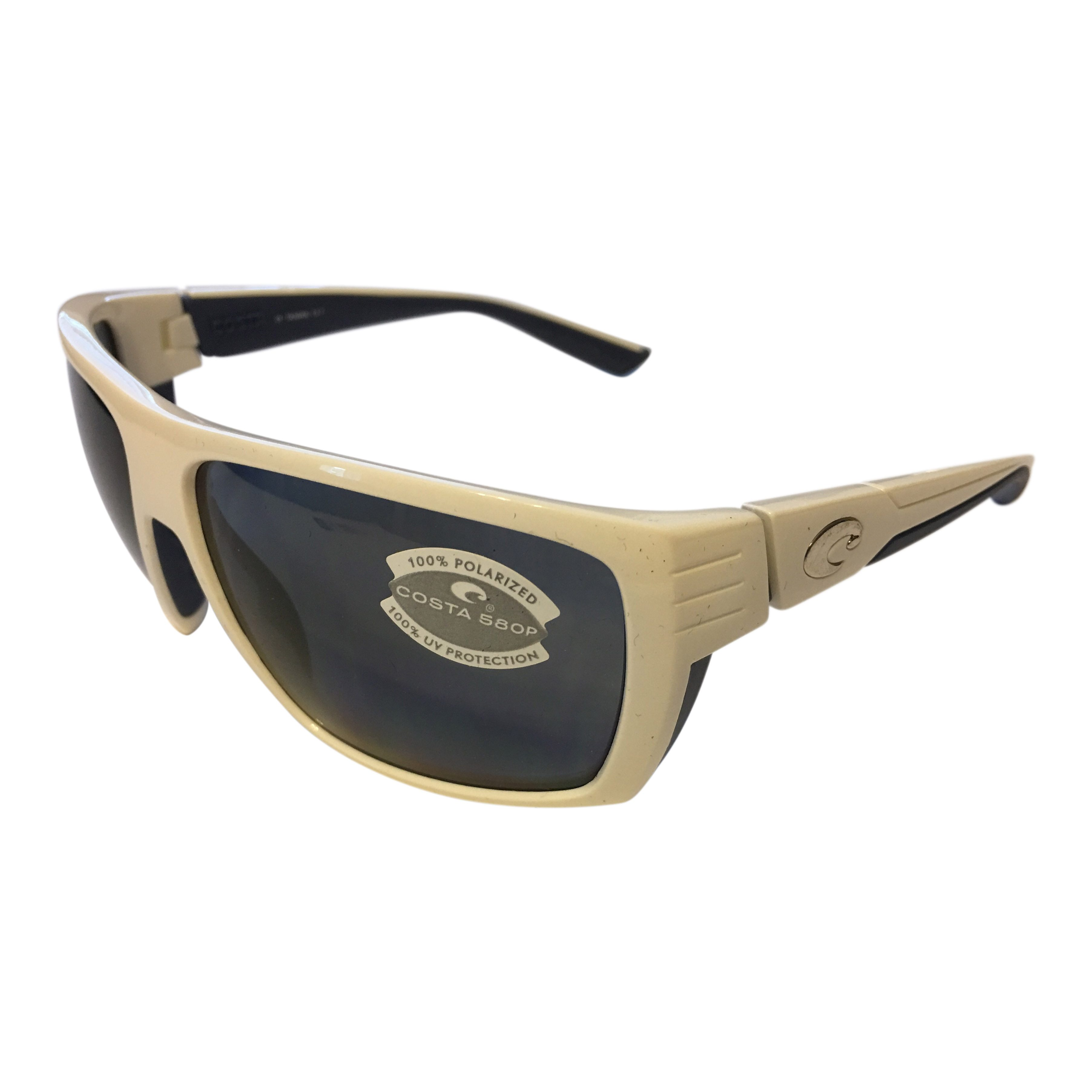 497022fde4 Costa Del Mar Hamlin Sunglasses – White w  Blue Frame – Polarized Gray 580P  Lens