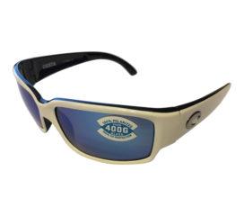 Costa Del Mar Caballito Sunglasses - Black & White - Polarized Blue Mirror 400G