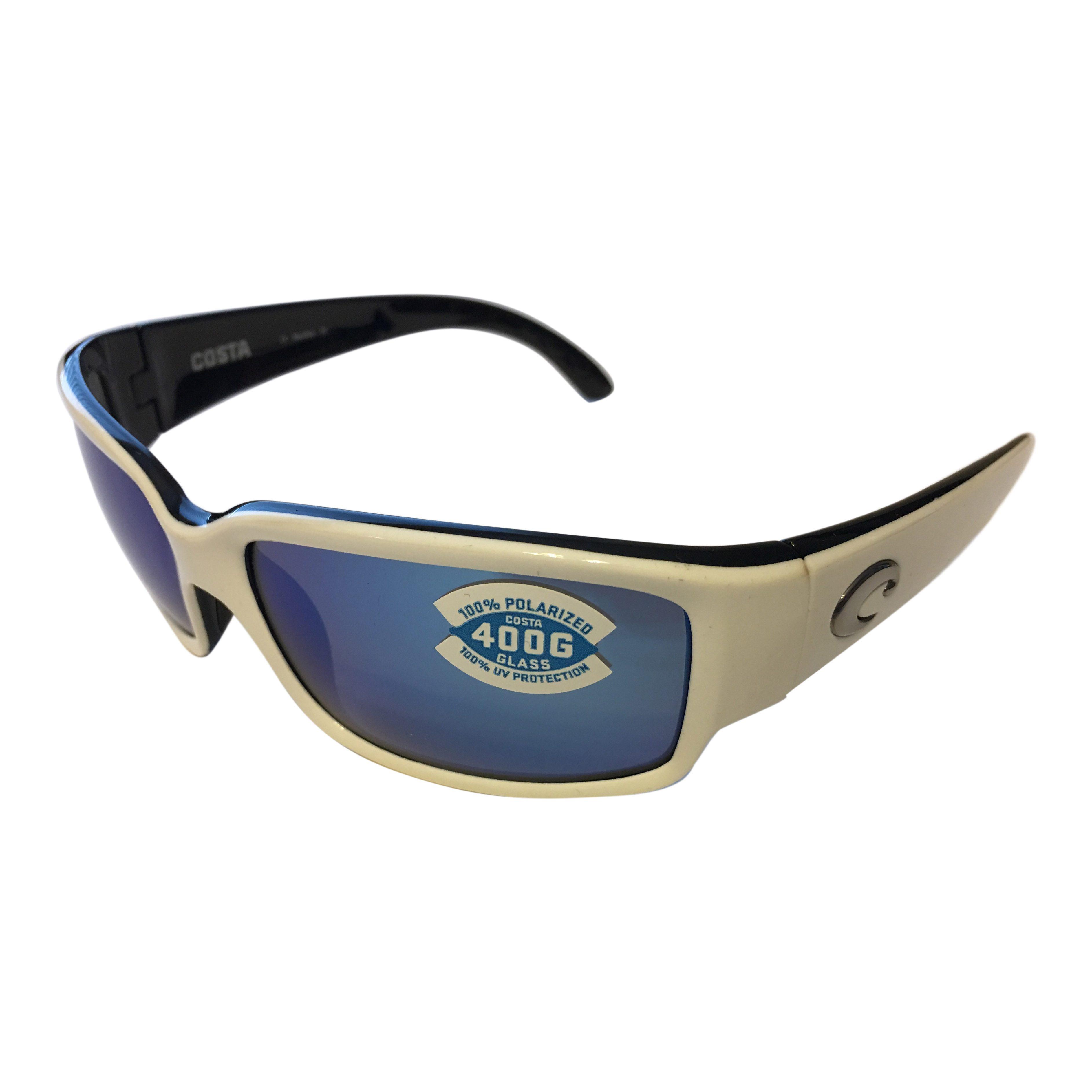 7727055c3677 Costa Del Mar Caballito Sunglasses – Black & White – Polarized Blue Mirror  400G