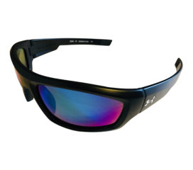 Under Armour Power Sunglasses UA - Satin Black Frame - Polarized Blue Multi Lens