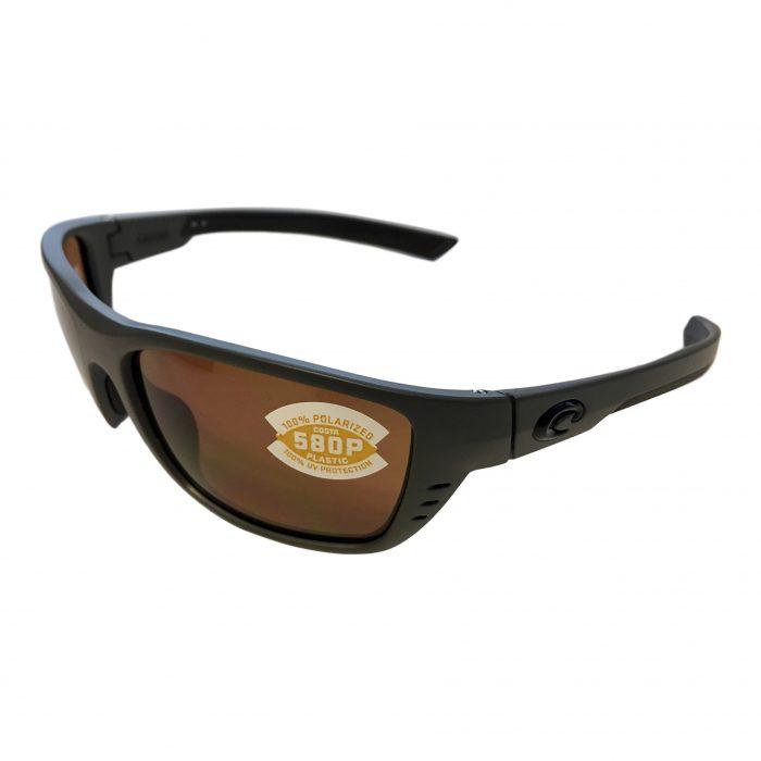 Costa Del Mar Whitetip Sunglasses - Matte Gray - POLARIZED Amber 580P
