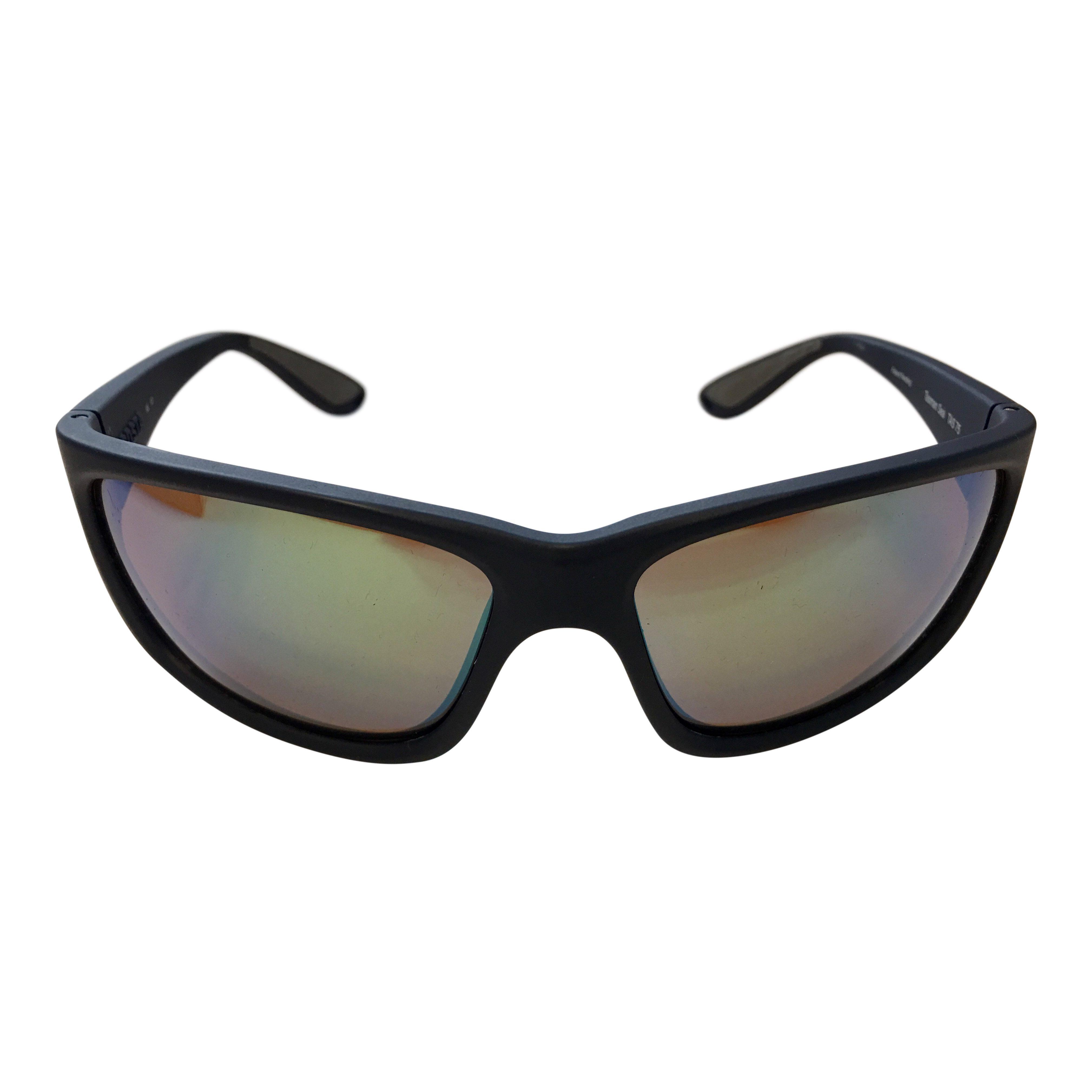 ed0e3eefe0ffd Costa Del Mar Tasman Sea Sunglasses Matte Blue POLARIZED Green Mirror 400G