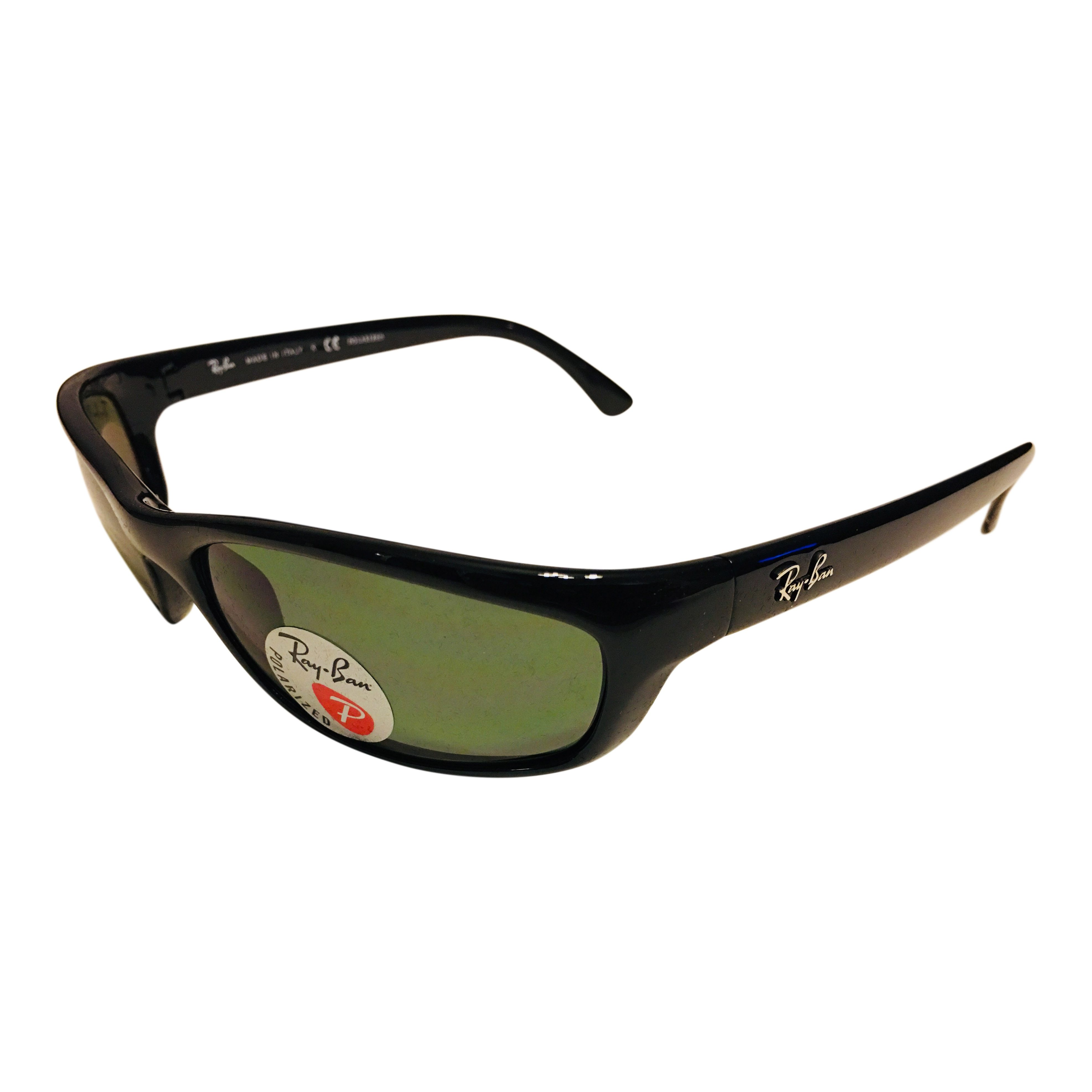 9037c5337f Ray-Ban Predator Sunglasses – Polished Black Frame – Polarized Green Lens  RB4115 601 9A