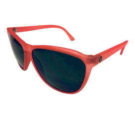 Electric Encelia Sunglasses - Warm Red Frame - Melanin Gray Lens EE12050620