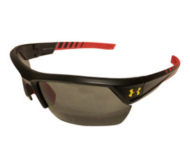 Under Armour Igniter 2.0 Sunglasses UA - Satin Black, Red & Yellow Frame  - Gray Lens