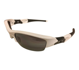 Oakley Flak Jacket Sunglasses - Polished White Frame - Black Iridium Lens 03-882