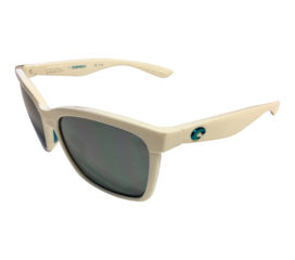 Costa Del Mar Anaa Sunglasses - Great White Ocearch - Polarized 580P Gray Mirror Lens