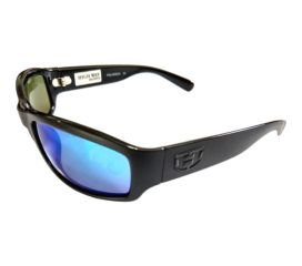 Hoven Vision Highway Sunglasses - ANSI Compliant - Matte Black Frame Polarized Blue Tahoe
