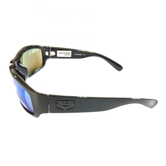 Hoven Vision Highway Sunglasses - ANSI Matte Black POLARIZED Blue Tahoe