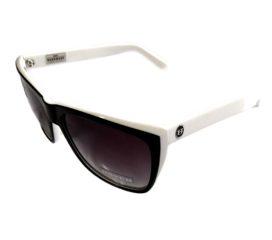Hoven Vision Katz Sunglasses - Black and White Frame - Polarized Gray Fade Lens