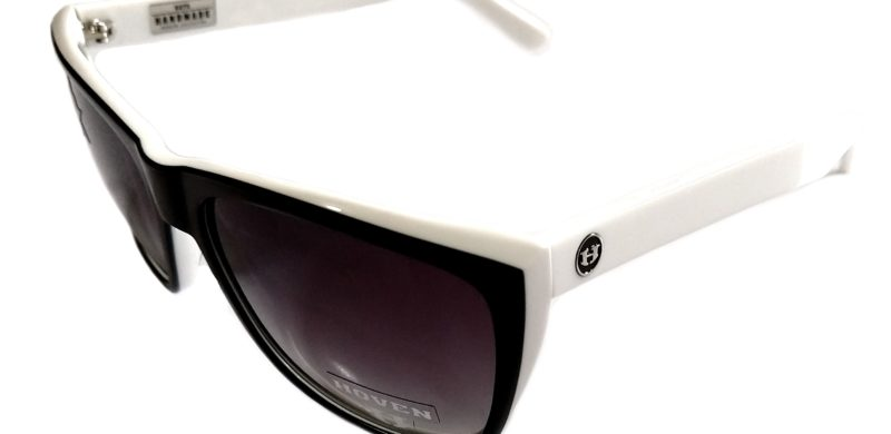 db99b5ff9d Hoven Vision Katz Sunglasses – Black and White Frame – Polarized Gray Fade  Lens