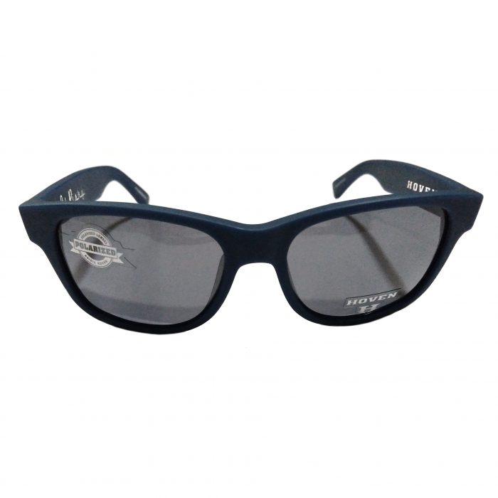 Hoven Vision Lil Risky Sunglasses - Dark Blue Matte - POLARIZED Grey