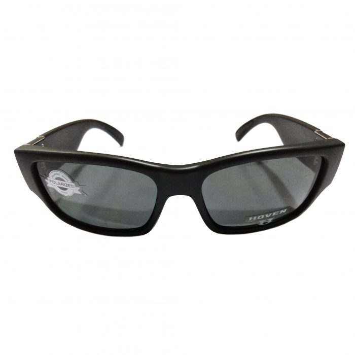 Hoven Vision Knucklehead Sunglasses - ANSI Matte Black - POLARIZED Grey