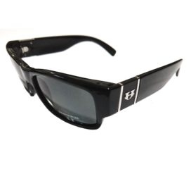 Hoven Vision Knucklehead Sunglasses - ANSI Rated Gloss Black Frame - Polarized Gray Lens