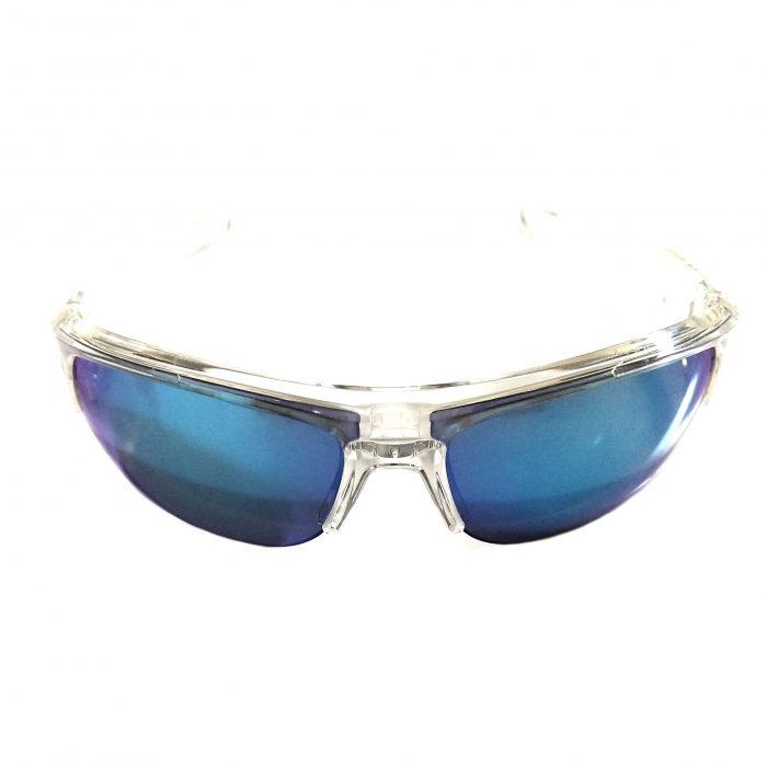 Under Armour Big Shot Sunglasses UA - Shiny Crystal - Blue Multiflect Lens