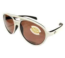Costa Del Mar Seapoint Sunglasses - White & Black Frame - Polarized Copper 580P Lens