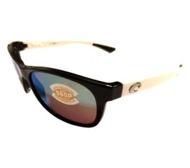 Costa Del Mar Prop Sunglasses - Black & White Frame - Polarized Green Mirror 580P Lens