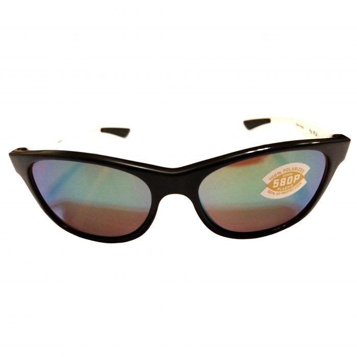 Costa Del Mar Prop Sunglasses - Black & White POLARIZED Green Mirror 580P