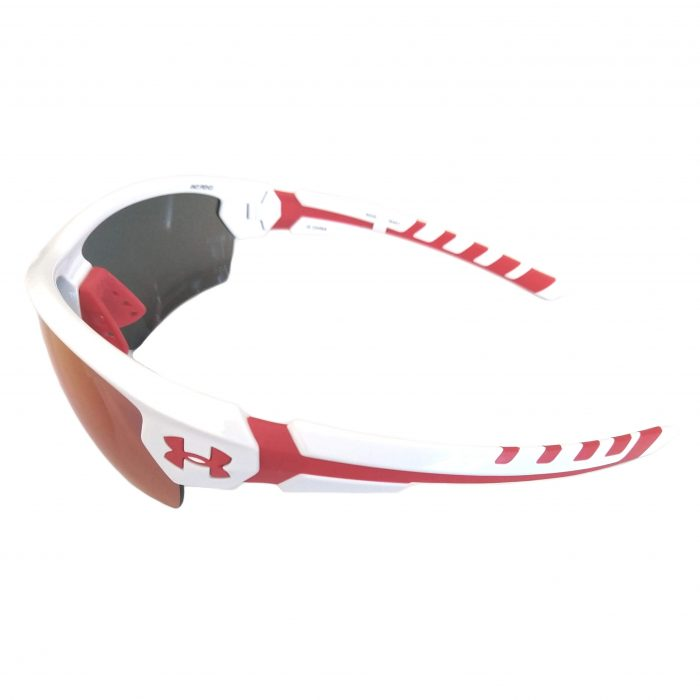 Under Armour Rival Sunglasses UA Shiny White w/ Red - Infrared Multiflection