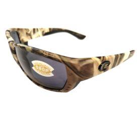 Costa Del Mar Tuna Alley Sunglasses - Mossy Oak Camo SGB Frame - Polarized Gray 580P Lens