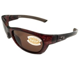 Costa Del Mar Trevally Sunglasses - Shiny Tortoise Frame - Polarized Amber 580P Lens