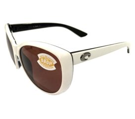 Costa Del Mar La Mar Sunglasses - White & Topaz Frame - Polarized Copper 580P Lens