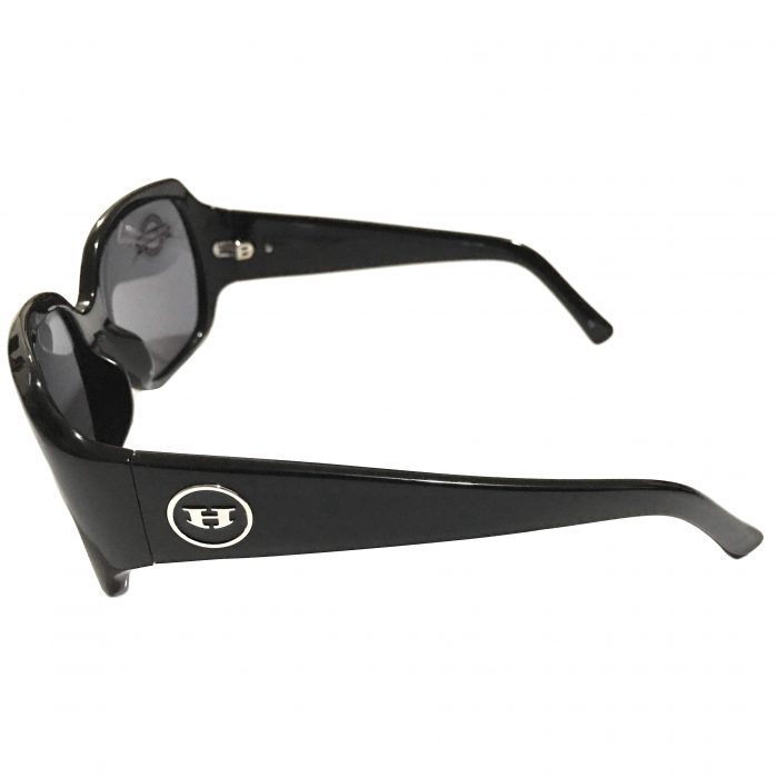 Hoven Vision Layla Sunglasses - Shiny Black Frame - POLARIZED Grey Lens