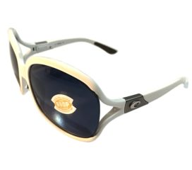 Costa Del Mar Boga Sunglasses - White Frame - Polarized Gray 580P Lens