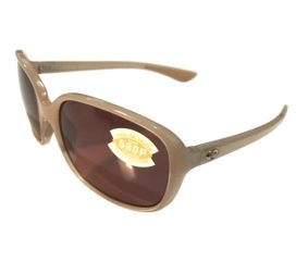 Costa Del Mar Riverton Sunglasses - Shiny Sand Crystal Frame - Polarized Copper Lens 580P