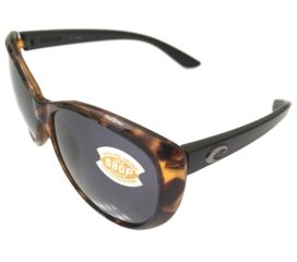 Costa Del Mar La Mar Sunglasses - Retro Tortoise w/ Black Frame - Polarized Gray 580P Lens