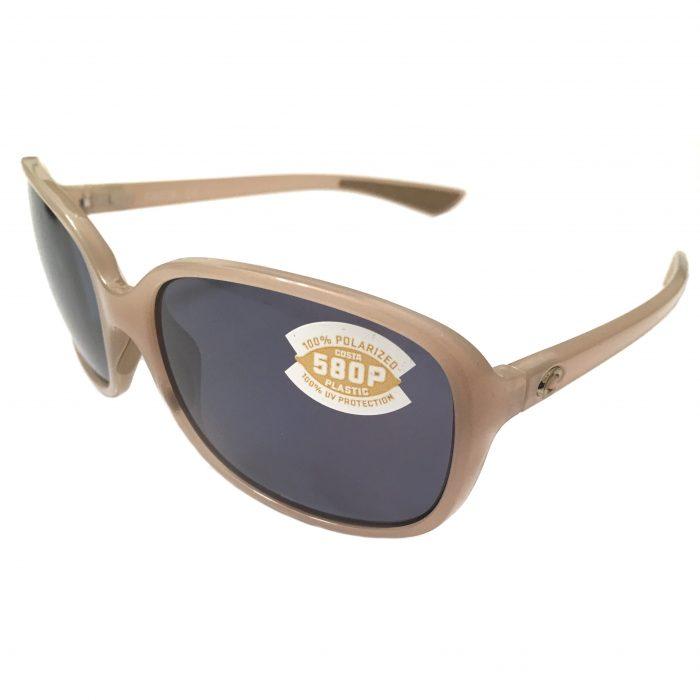 Costa Del Mar Riverton Sunglasses - Shiny Sand Crystal - POLARIZED Gray 580P