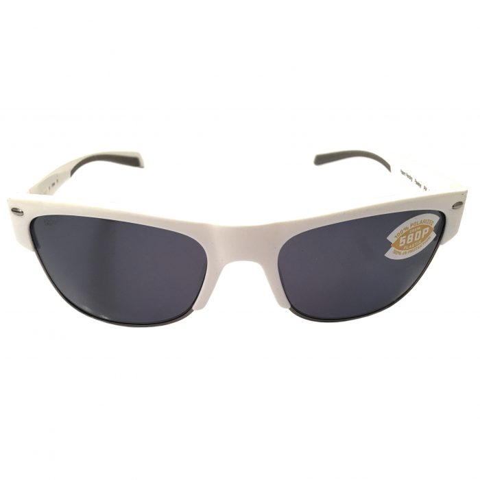 Costa Del Mar Pawleys Sunglasses - White Frame - POLARIZED Gray 580P Lens