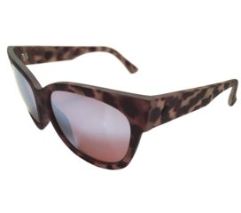 Electric Visual Danger Cat Sunglasses - Nude Tortoise Frame - OHM Sky Blue Lens