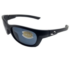 Costa Del Mar Trevally Sunglasses - Matte Black Gunmetal POLARIZED Gray 580P