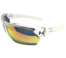 Under Armour Igniter 2.0 Sunglasses UA - Shiny Crystal Clear Frame - Orange Multi Lens