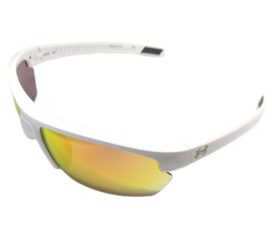 Under Armour Stride XL Sunglasses UA - Shiny White Frame - Orange Multi Lens