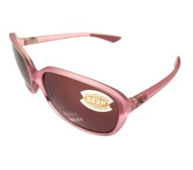 Costa Del Mar Riverton Sunglasses - Matte Hibiscus Crystal Pink - Polarized Copper 580P
