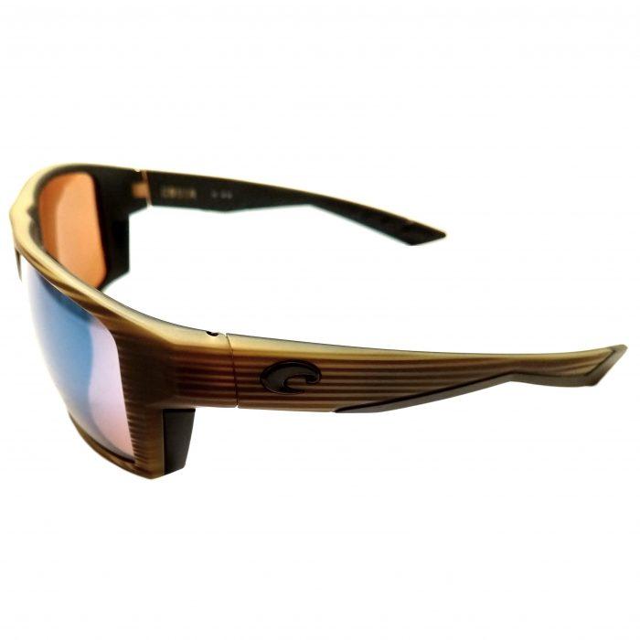 Costa Del Mar Bloke Sunglasses - Matte Verde Teak Black POLARIZED Green 400G