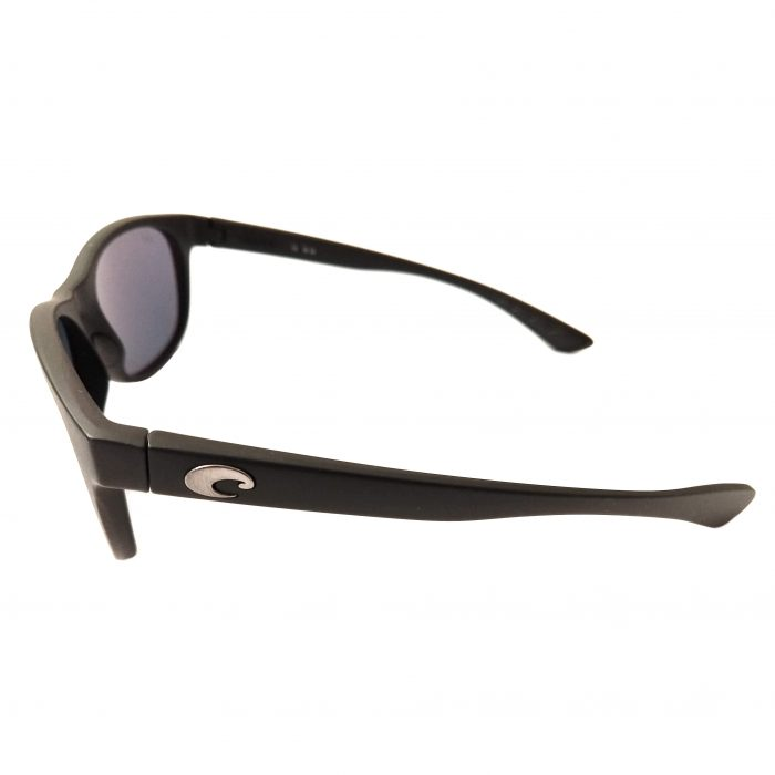Costa Del Mar Prop Sunglasses - Matte Black Frame POLARIZED Gray Silver 580P