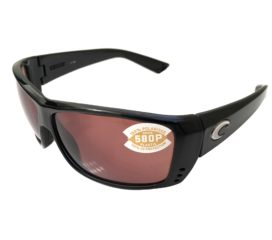 Costa Del Mar Cat Cay Sunglasses - Gloss Black Frame - Polarized Copper 580P Lens