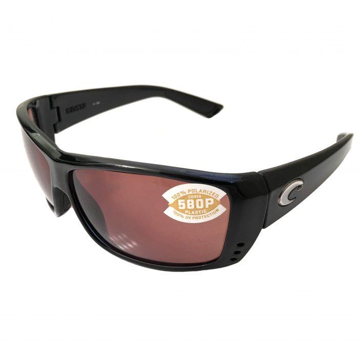 Costa Del Mar Cat Cay Sunglasses - Gloss Black Frame POLARIZED Copper 580P