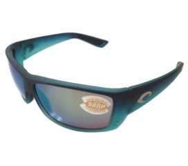 Costa Del Mar Cat Cay Sunglasses Matte Caribbean Fade - Polarized Green Mirror 580P Lens