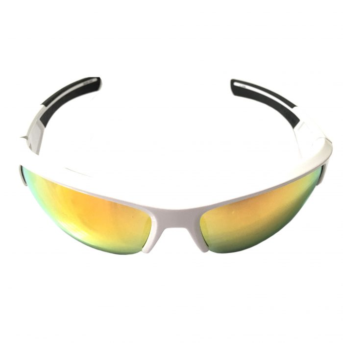 Under Armour Big Shot Sunglasses UA - Shiny White Frame - Orange Multi Lens