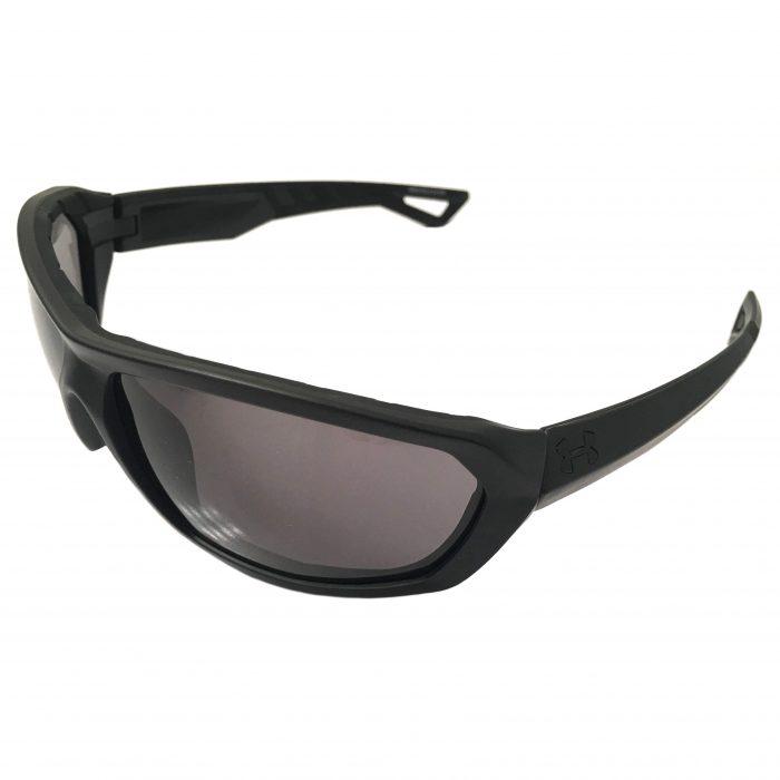 Under Armour Rage Sunglasses UA Performance Eyewear - Satin Black - Gray