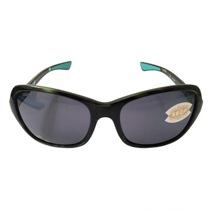 Costa Del Mar Kare Sunglasses - Shiny Kiwi Tortoise POLARIZED Gray 580P