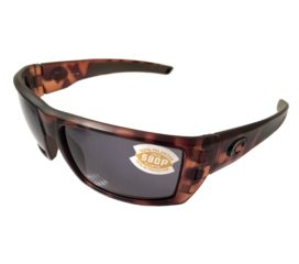 Costa Del Mar Rafael Fishing Sunglasses - Matte Retro Tortoise POLARIZED Gray 580P