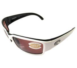Costa Del Mar Caballito Sunglasses - White Black Frame - Polarized Copper 580P Lens
