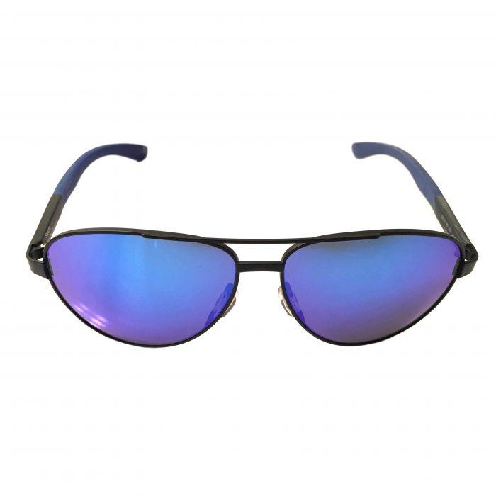 Smith Optics Salute Sunglasses - Matte Black Aviator Frame - Blue Mirror Carbonic Lens