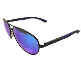 Smith Salute Sunglasses - Matte Black Aviator Frame - Blue Mirror Carbonic Lens